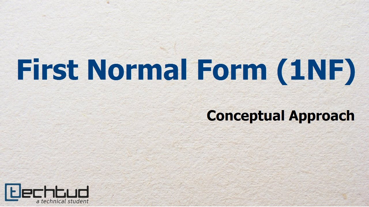 First Normal Form | Database Management System - YouTube
