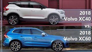 2018 Volvo XC40 vs 2018 Volvo XC60 technical comparison