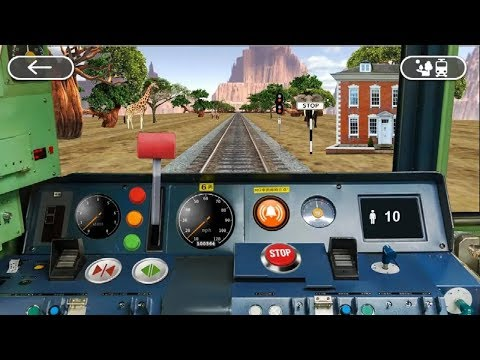 TRAIN DRIVING 3D SIMULATOR GAMES #001 - Train Games Android GamePlay #q | Kids Games Download
