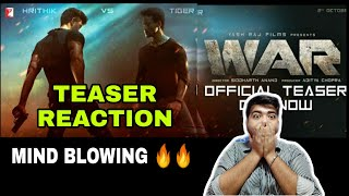 WAR TEASER REVIEW+REACTION|HRITHIK ROSHAN|TIGER SHROFF|VAANI KAPOOR