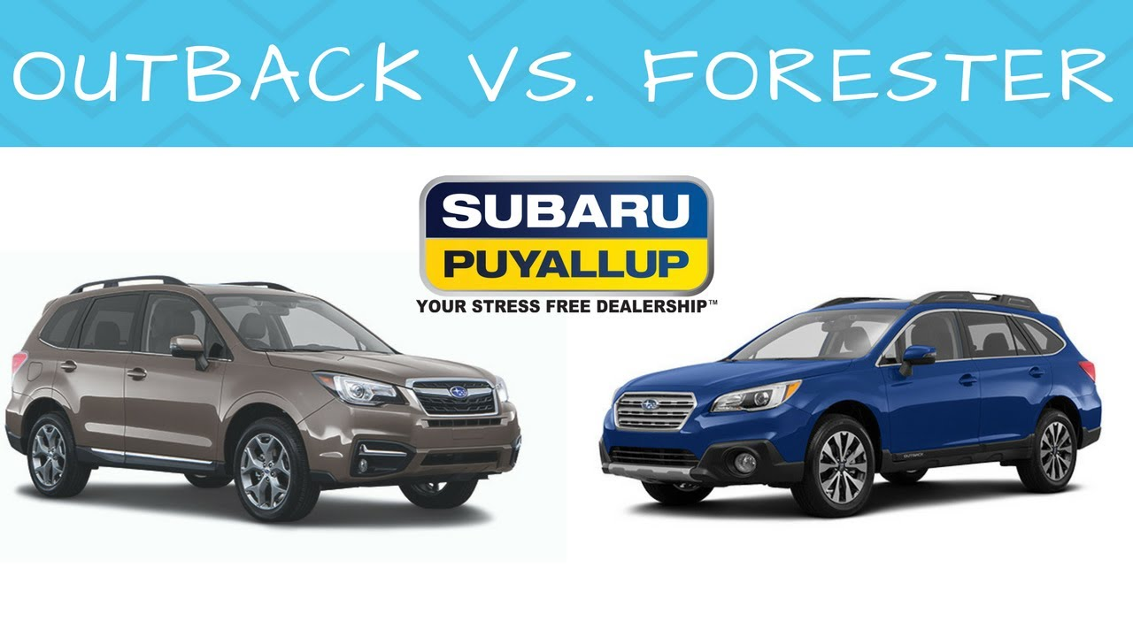 2017 Subaru Outback vs. Subaru Forester - YouTube