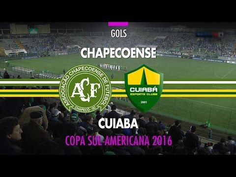 Gols - Chapecoense 3 x 1 Cuiabá - Copa Sul-Americana - 31/08/2016