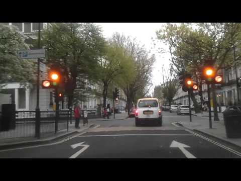 Driving In London - Queensway To Lancaster Gate