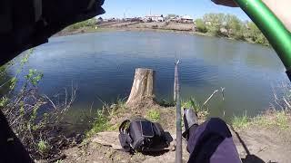 Рыбалка из детства! Ловим карася в деревне! Карась на поплавок! Рыбалка около дома!