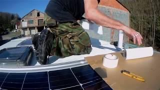 solaranlage auf 39 s dach mit ective 4in1 inverter vw t4. Black Bedroom Furniture Sets. Home Design Ideas