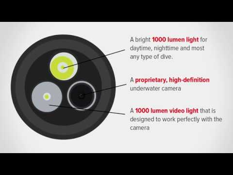 Scuba Dive Light with Integrated Camera - The Tovatec MERA
