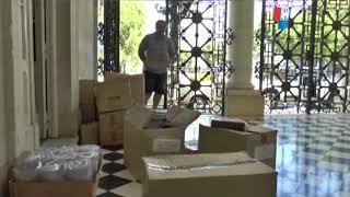 LEANDRO DI PIENTO   CONSEJERO ESCOLAR   RECIBIERON KIT DE MATERIAL DIDACTICO DEL MINISTERIO DE EDUC