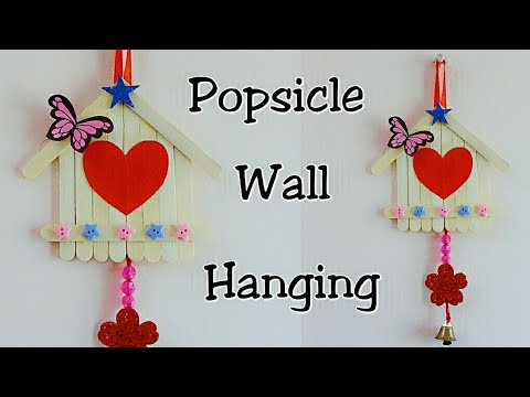 Popsicle Sticks Wall Hanging/Ice Cream Sticks Crafts/Wall Decoration Ideas using Popsicle Sticks