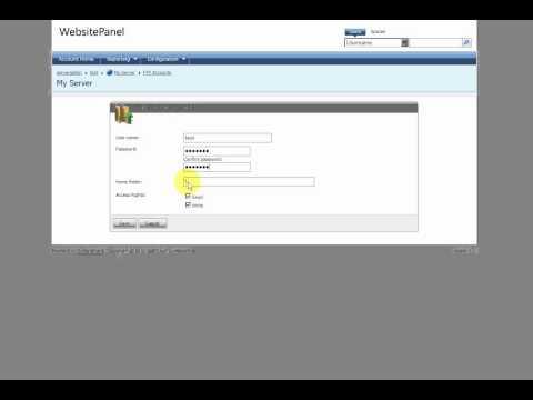 FTP accounts in WebsitePanel