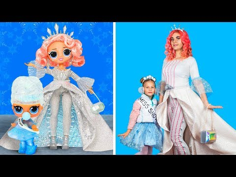 Превращаю себя в рождественскую ЛОЛ / Куклы ЛОЛ в реальной жизни – 11 идей
