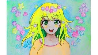 Уроки рисования. Как нарисовать весеннюю  девочку АНИМЕ  How To Draw Girl Anime/Manga | Art School