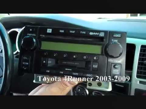hqdefault toyota 4runner stereo removal 2003 2009 youtube 2005 toyota 4runner stereo wiring diagram at mr168.co