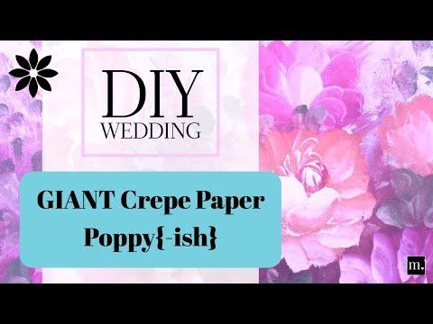 Easy Giant Crepe Paper Flower for DIY Wedding Backdrop Tutorial