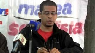 Rueda de prensa de Marea Socialista en Caracas, aporrea tvi, 01 de agosto 2014