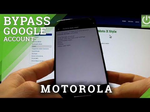 Motorola Bypass Google Account - Remove Factory Reset Protection Android 6.0