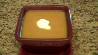 Curried Butternut Squash Soup with Lime Crema - Lynn's Recipes