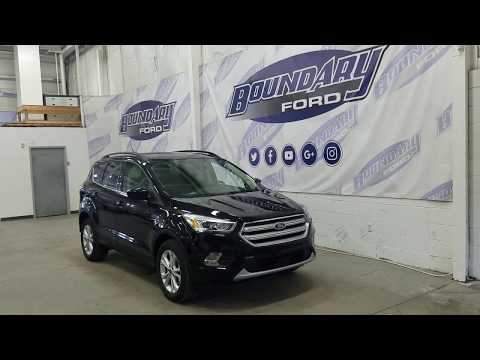 2018 Ford Escape SEL W/ 1.5L Ecoboost, Black, Exterior | Boundary Ford