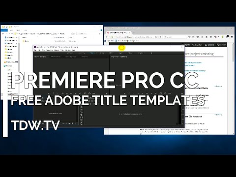Adobe Premiere Pro CC (and CS6) Title Templates free from Adobe thumbnail