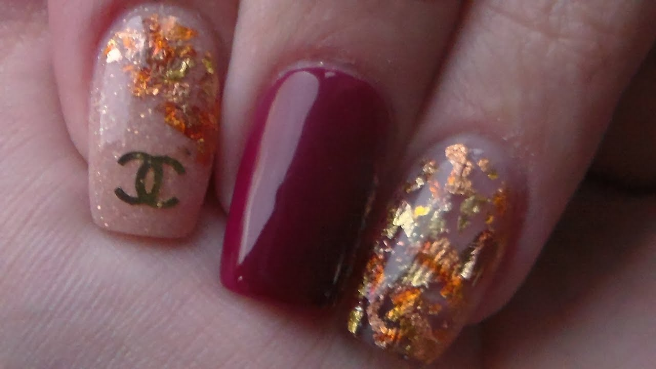 Acrylic Nails   Chanel   Autumn Nail Design - YouTube