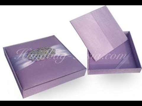 Silk Wedding Invitation Boxes   YouTube