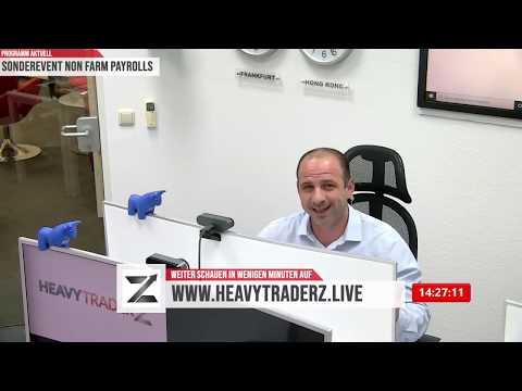 US ARBEITSMARKTDATEN HEUTE LIVE ab 14:30 Uhr auf www.heavytraderz.live