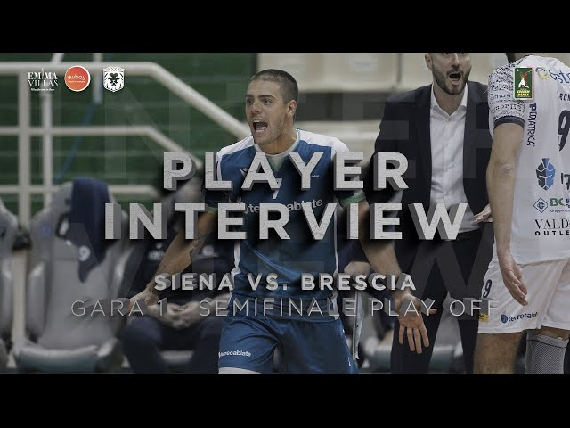 POST GARA1 SIENA VS BRESCIA - INTERVISTA A FUSCO