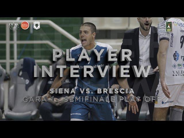 POST GARA1 SIENA VS BRESCIA - INTERVISTA A FUSCO