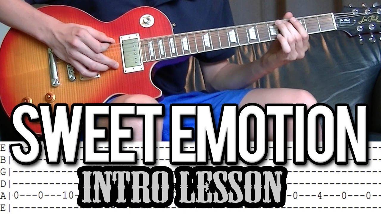 Aerosmith Sweet Emotion Intro Lesson With Tab Youtube