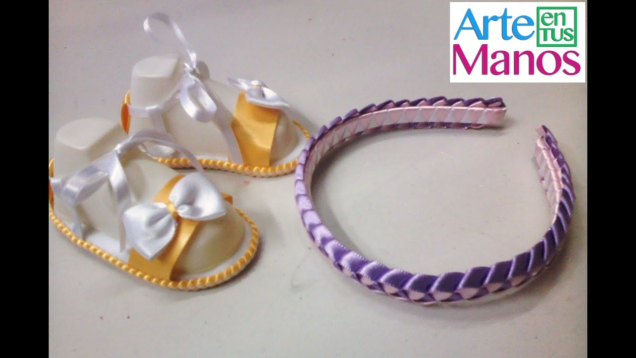 f88732a1aff6 Trenzado o tejido en cinta paso a paso para diademas, sandalias, pulseras y  mas by Arte en Tus Manos