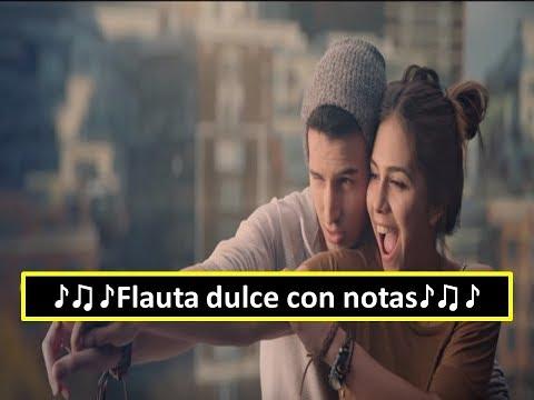 Sebastián Yatra - Cómo Mirarte | Flauta dulce con notas
