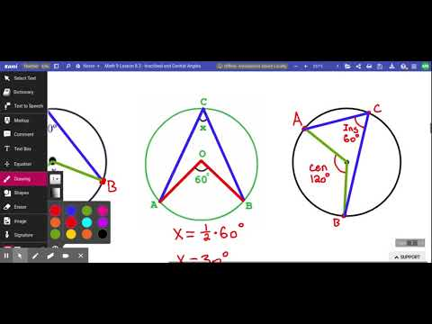 Math 9 Lesson 8.3 - Inscribed and Central Angles - YouTube