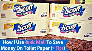 How I Use Junk Mail To Save Money On Toilet Paper (+ Tips)