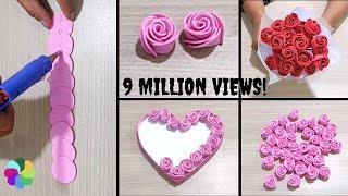 2 Amazing Trick For Easy Rose Flower Making, DIY W