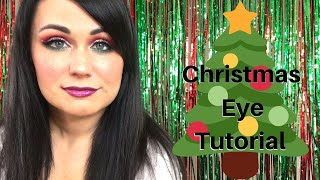 Christmas Red/Green Eyeshadow Tutorial - Alayna
