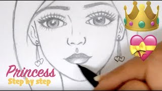 ♡ How to Draw a Princess: Step by Step tutorial  ♡