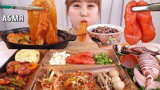 ASMR Mukbang|Eating Korean home meal! Rice and 9 kinds of side dishes!