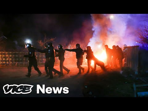 Ukrainian Protesters Attacked