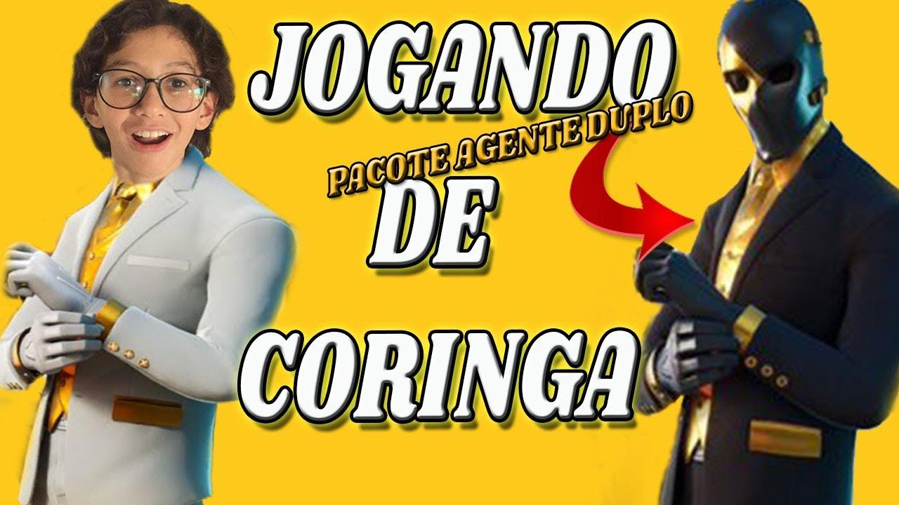 FORTNITE JOGANDO DE CORINGA PACOTE AGENTE DUPLO  NOVO ESTILO DO CORINGA ESPECTRO GAMEPLAY NOVA SKIN