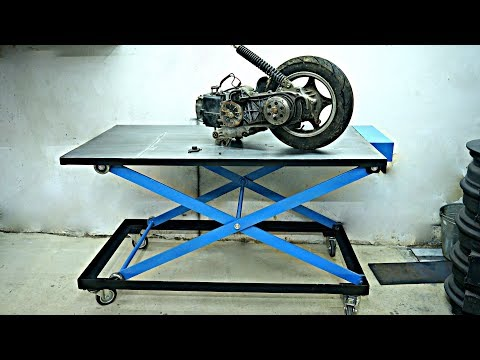 Making Mobile Battery Powered Scissor Lift Table (workbench)