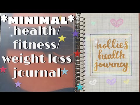 how to start a fitness / health / weight loss journal *minimalism*   hollie's glowup diaries