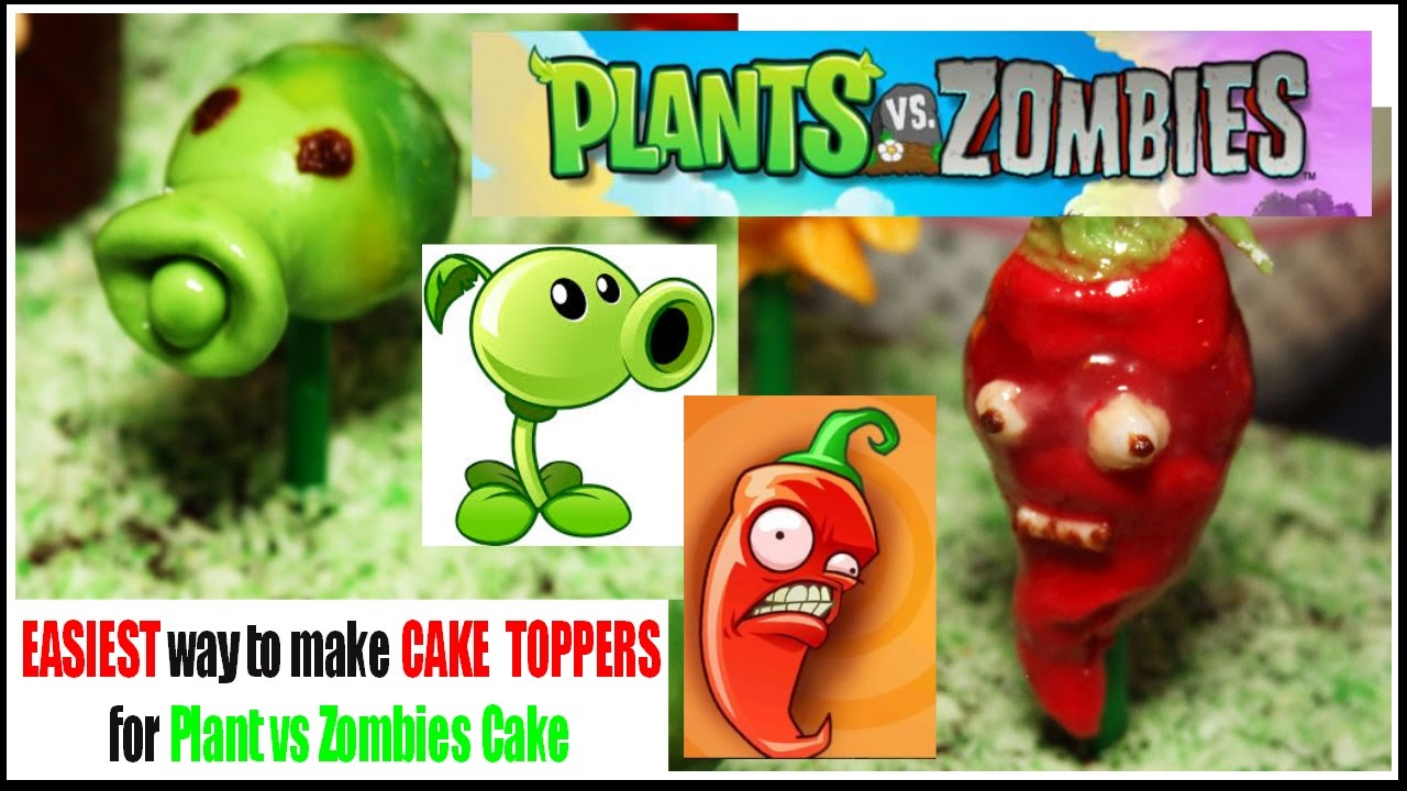 Plants vs Zombie cake toppers made easy YouTube