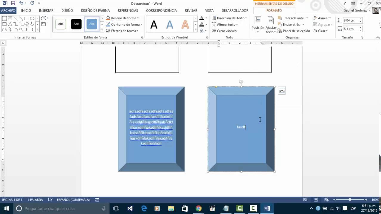 Crear Un Cuadro Comparativo En Microsoft Word 2013 Youtube