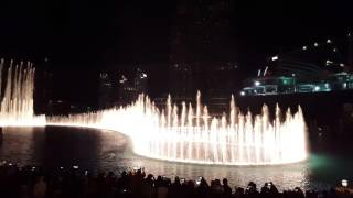Dubai Mall Musical fountain 2016