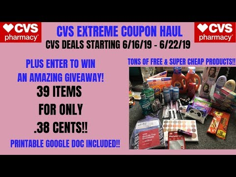 CVS EXTREME COUPON HAUL DEALS STARTING 6/16/19~39 ITEMS ONLY .38 CENTS~FREE & CHEAP PLUS GIVEAWAY!