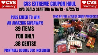 CVS EXTREME COUPON HAUL DEALS STARTING 6/16/19~39 ITEMS ONLY .38 CENTS~FREE