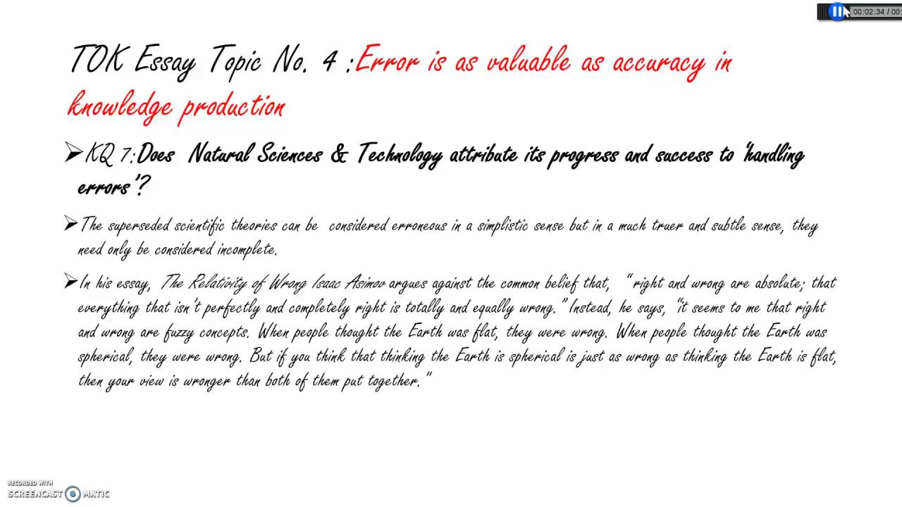 November  IB TOK Essay Title  Errors Versus Accuracy Part  Maxresdefault Watch?vBtbQHATLNE