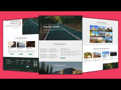 Upcoming Video   Create Responsive Travel Website Using HTML5 & CSS3 Only   No JavaScript