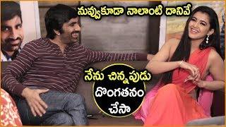 Malvika Sharma Reveals Her Robbing | Nela Tickettu Team Funny Interview | Ravi Teja, Ali
