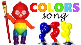 Nursery Rhymes Colors Song Learn Colors with Baby Painting Body Paint Creative Learning for Kids