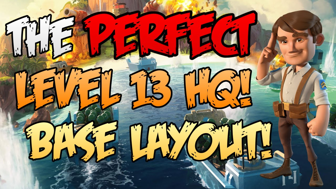 "boom beach - best ""level 13 hq"" base layout ever!!! - youtube"